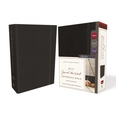 NKJV Journal The Word Reference Bible, Black, Red Letter (Cloth-Bound)