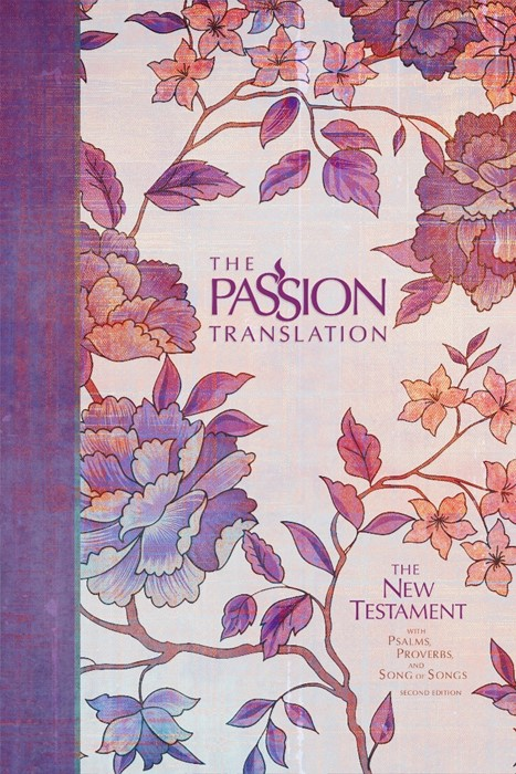 Passion Translation New Testament Bible, Peony (Hard Cover)