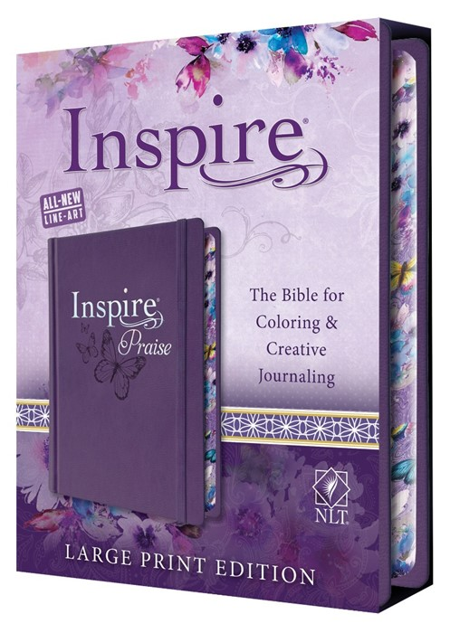 NLT Inspire PRAISE Bible Large Print (Hard Cover)