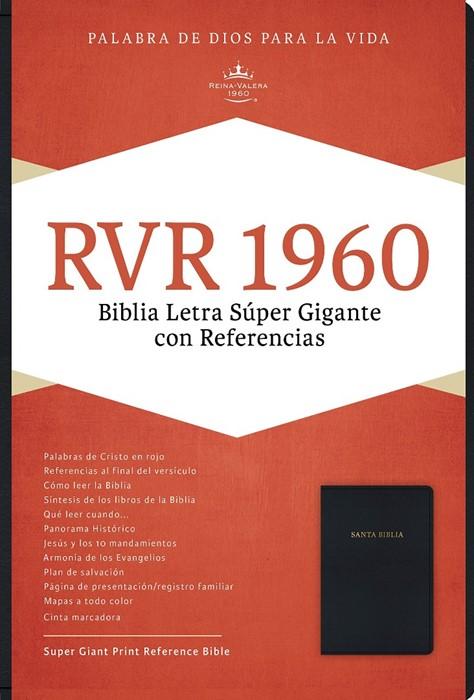 RVR 1960 Biblia Letra Súper Gigante, negro imitación piel (Imitation Leather)