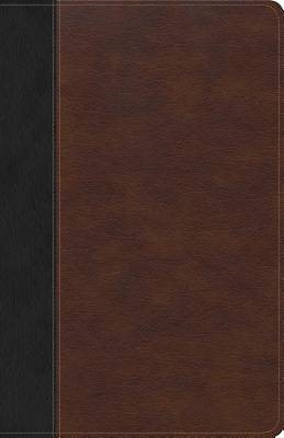 CSB Ultrathin Bible, Brown/Black Leathertouch Indexed (Imitation Leather)