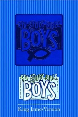 KJV Study Bible For Boys Blue Duravella (Leather Binding)