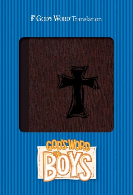 God's Word For Boys Autumn Bark, Cross Design Duravella (Leather Binding)