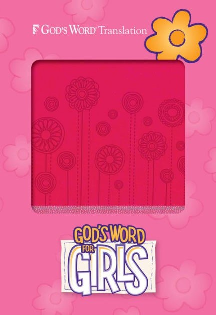 GW God's Word For Girls Pink/Pearl, Flowerpop Design Durave (Leather Binding)