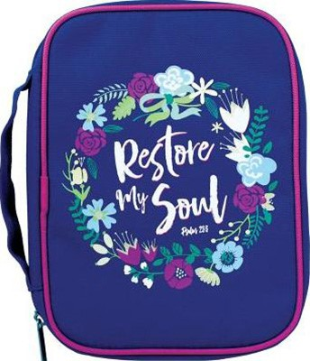 Restore My Soul Canvas Bible Cover, Large (Bible Case)