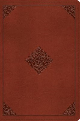 ESV Large Print Bible (TruTone, Tan, Ornament Design) (Imitation Leather)