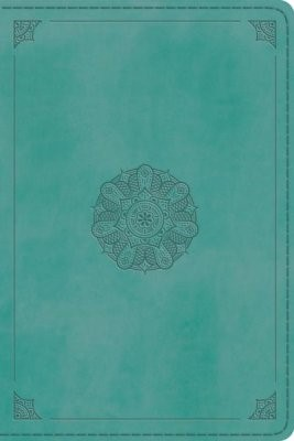 ESV Personal Reference Bible, Turquoise, Emblem Design (Imitation Leather)