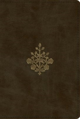 ESV Large Print Compact Bible (TruTone, Olive, Branch Design (Imitation Leather)