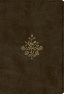 ESV Large Print Compact Bible, TruTone, Olive, Branch Design (Imitation Leather)