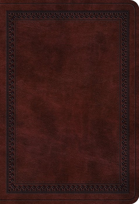 ESV Value Large Print Compact Bible, Mahogany (Imitation Leather)