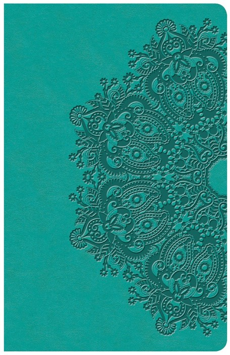 KJV Large Print Personal Size Reference Bible, Teal (Imitation Leather)
