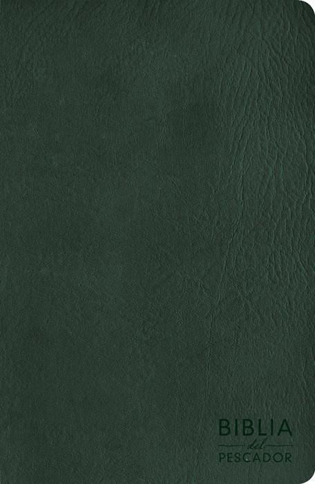 NVI Biblia del Pescador letra grande, verde símil piel (Imitation Leather)