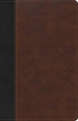 CSB Ultrathin Bible, Brown/Black Leathertouch (Imitation Leather)