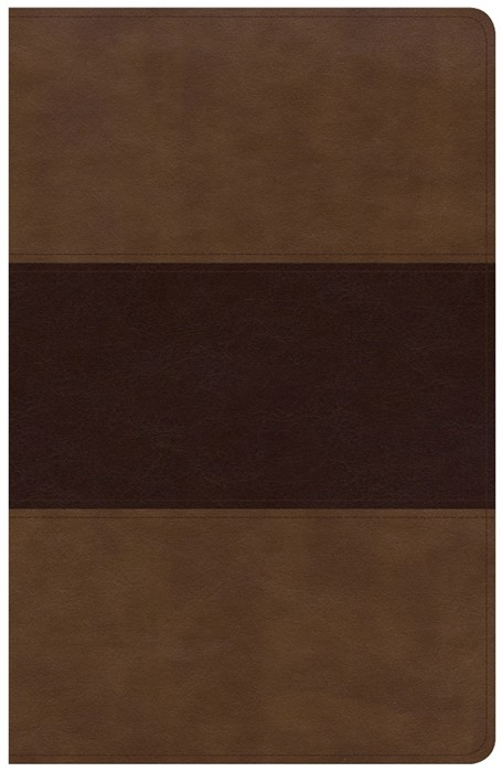 KJV Large Print Personal Size Reference Bible, Saddle Brown (Imitation Leather)