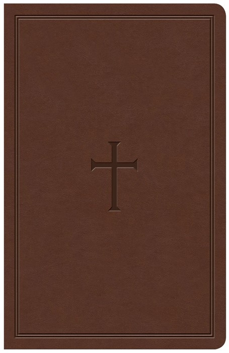 KJV Large Print Personal Size Reference Bible, Brown (Imitation Leather)