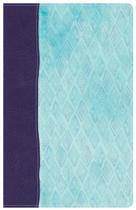 NKJV Daily Devotional Bible for Women, Purple/Blue (Imitation Leather)