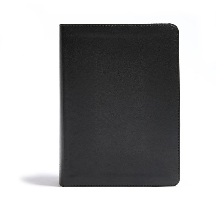 CSB He Reads Truth Bible, Black Leathertouch Indexed (Imitation Leather)