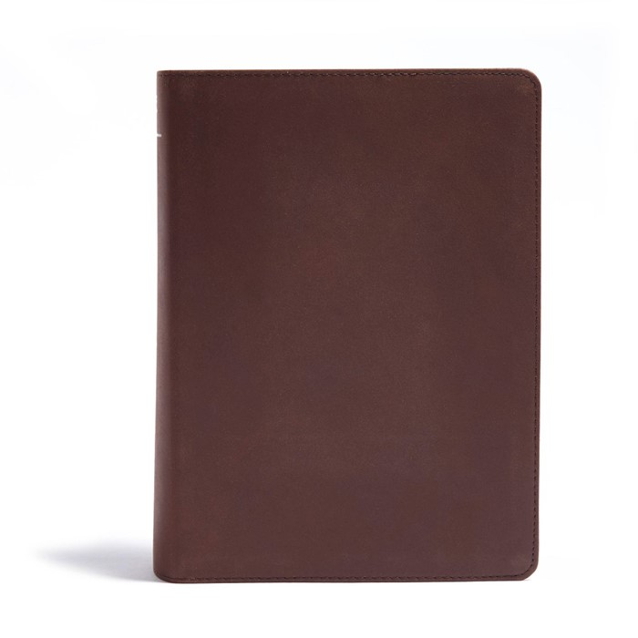 CSB He Reads Truth Bible, Brown Genuine Leather (Genuine Leather)