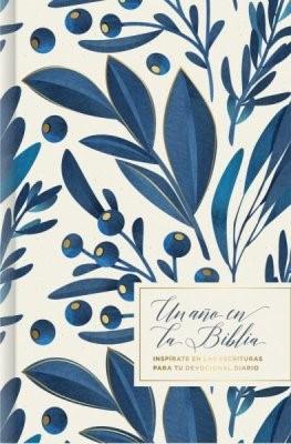 Un año en la Biblia, floral (Hard Cover)