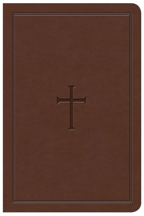 KJV Large Print Compact Reference Bible, Brown LeatherTouch (Imitation Leather)