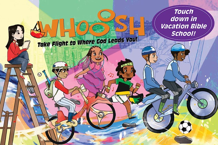 VBS 2019 Whooosh Invitation Postcards (Pkg of 24) (Postcard)