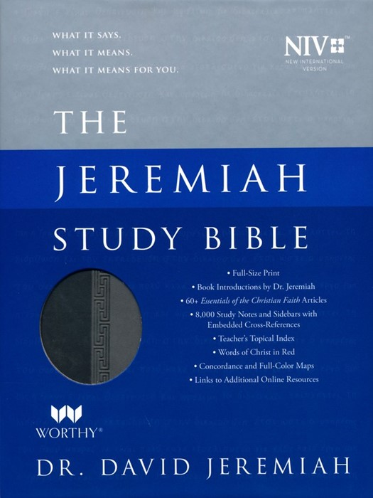 NIV Jeremiah Study Bible, Gray (Imitation Leather)