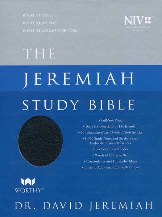 NIV Jeremiah Study Bible, Black Genuine Leather, Indexed (Genuine Leather)