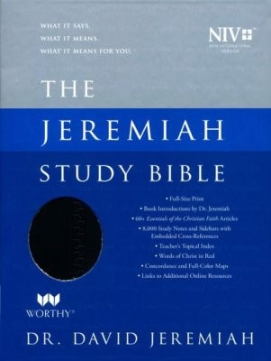 NIV Jeremiah Study Bible, Black (Imitation Leather)