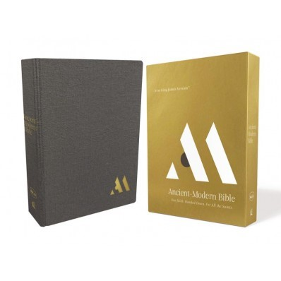 NKJV Ancient-Modern Bible, Gray, Comfort Print (Hard Cover)