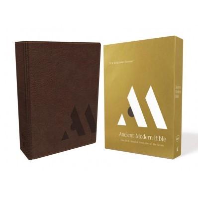 NKJV Ancient-Modern Bible, Brown, Comfort Print (Imitation Leather)