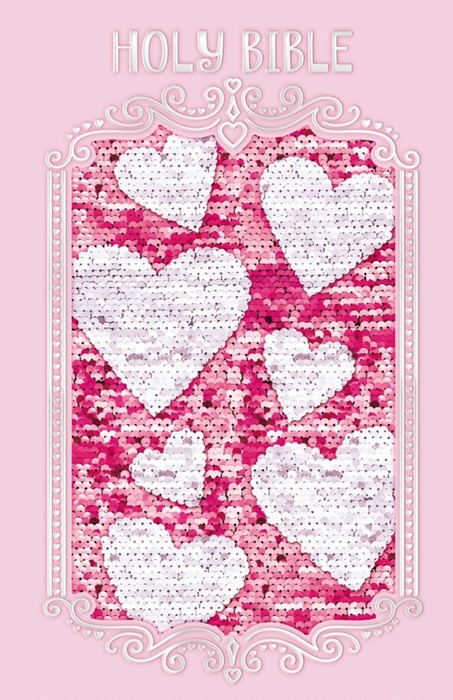 ICB Sequin Sparkle And Change Bible, Pink (Hard Cover)