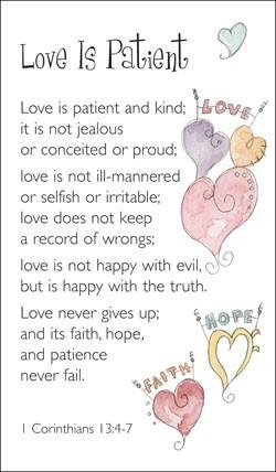 Love Is Patient (Miscellaneous Print)