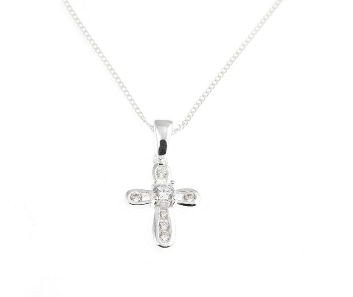 Dainty Cubic Zirconia Cross (General Merchandise)
