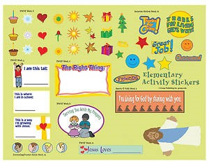 FaithWeaver Friends Elementary Activity Stickers, Fall 2018