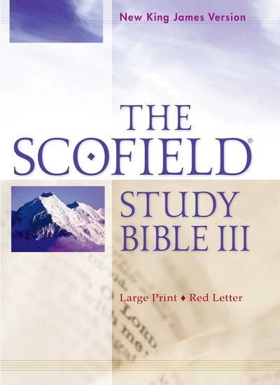 NKJV Scofield Study Bible III, Large Print Edition, Burgundy (Bonded Leather)