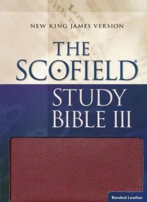 NKJV Scofield Study Bible III, Burgundy (Bonded Leather)