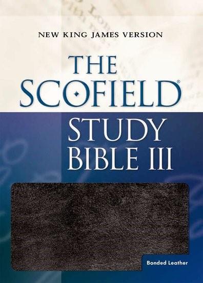 NKJV Scofield Study Bible III, Black, Indexed (Bonded Leather)