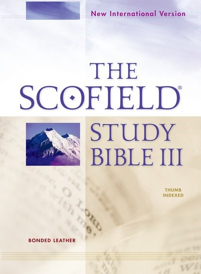 NIV Scofield Study Bible III, Burgundy, Indexed, Red Letter (Bonded Leather)