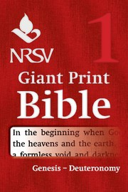 NRSV Giant Print Bible: Genesis-Deuteronomy (Paperback)