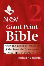 NRSV Giant Print Bible: Joshua-2 Samuel (Paperback)