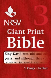 NRSV Giant Print Bible: 1 Kings-Esther (Paperback)