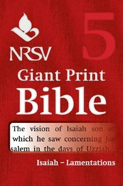 NRSV Giant Print Bible: Isaiah-Lamentations (Paperback)