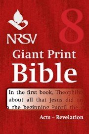 NRSV Giant Print Bible: Acts-Revelation (Paperback)