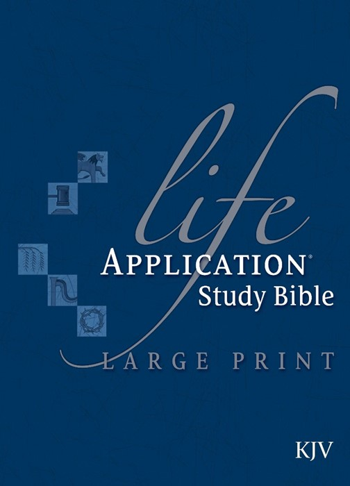 KJV Life Application Study Bible, Large Print, Indexed (Hard Cover)