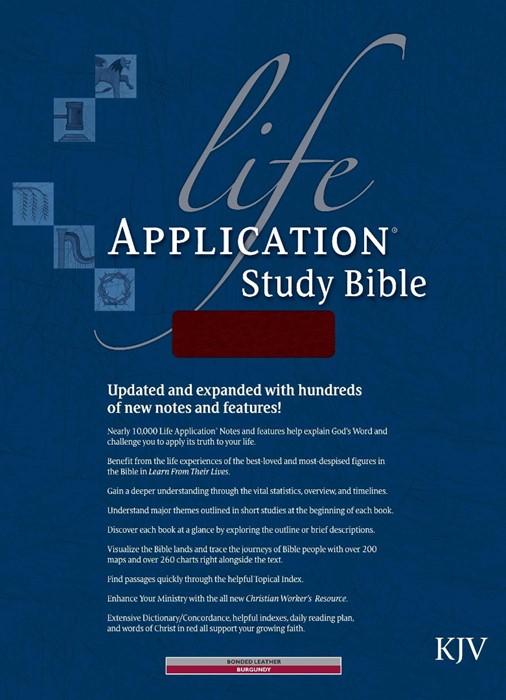 KJV Life Application Study Bible, Burgundy, Indexed (Bonded Leather)
