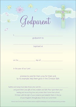Godparent Certificate (Pack of 10) (Certificate)