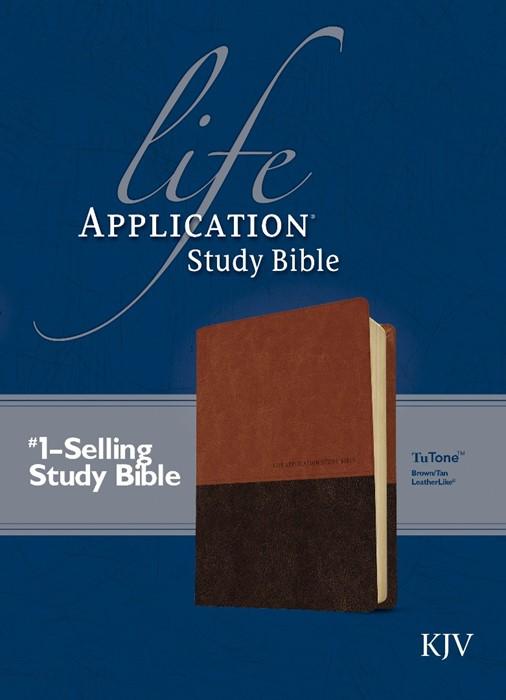 KJV Life Application Study Bible Tutone Brown/Tan (Imitation Leather)