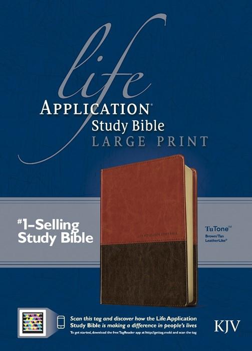 KJV Life Application Study Bible Large Print, Brown/Tan (Imitation Leather)
