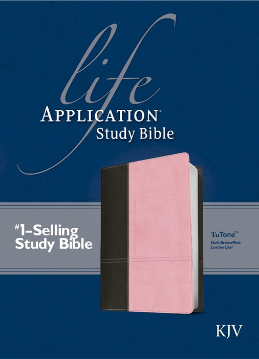 KJV Life Application Study Bible Dark Brown/Pink (Imitation Leather)