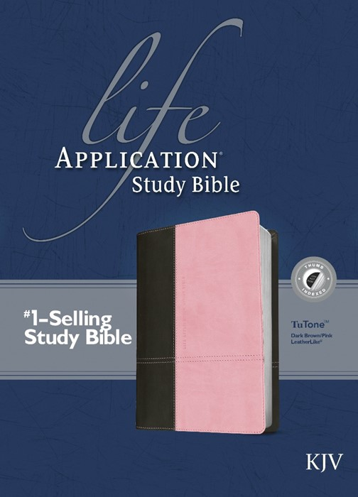 KJV Life Application Study Bible Dark Brown/Pink, Indexed (Imitation Leather)